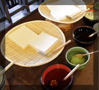 万座のおいしい水でつくりあげた手作りの豆腐